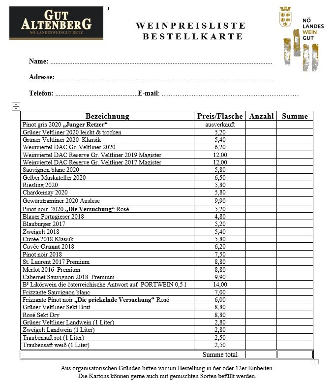 Weinkarte 0921